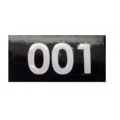 Nummeraufkleber