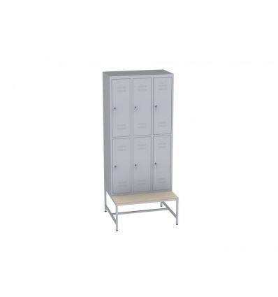 LWS400/32 Kleiderschrank auf Bank