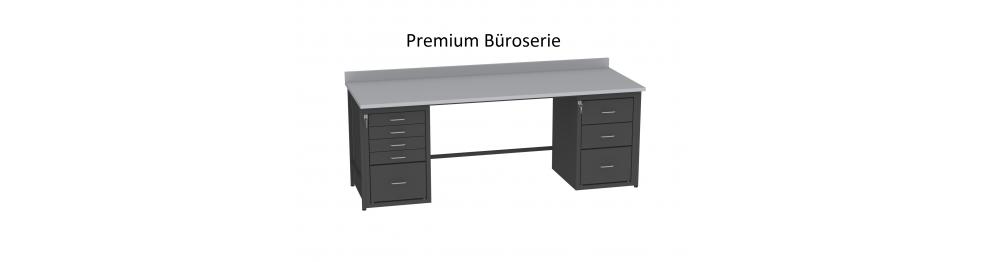 Premium b roserie metallm bel heritus for Verstellbare schreibtische