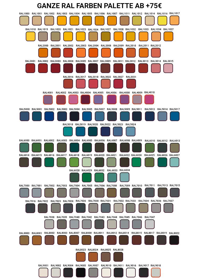 Farbpalette metallm bel heritus for Verstellbare schreibtische